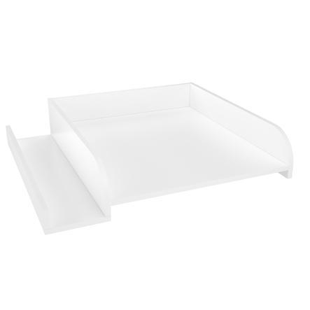 Polini Kids Plan à langer pour lave-linge, rangement, blanc 63,2x71,6x15 cm