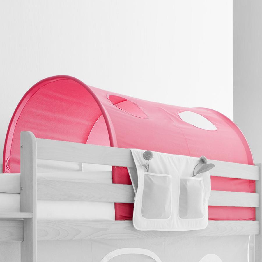 TICAA Tunnel voor hoogslapers en stapelbedden - roze - Landhuis