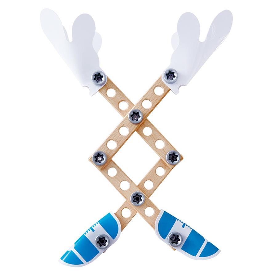 Hape Kit de construction enfant 3 expériences bois E3030
