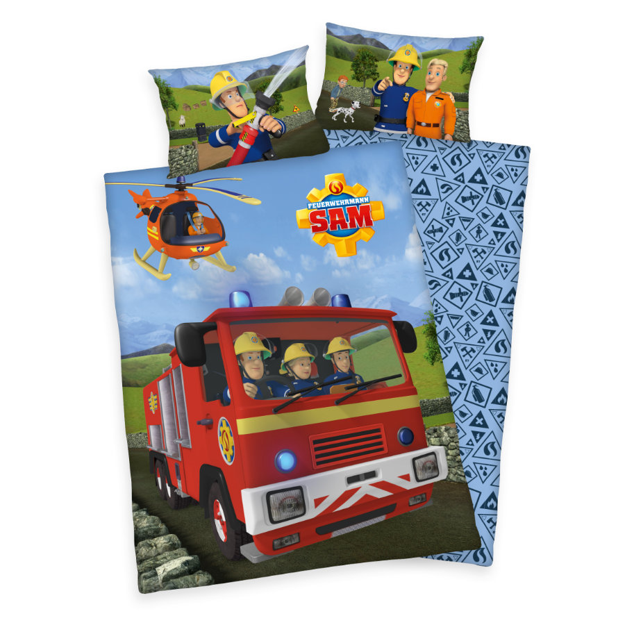 HERDING Ropa de cama bombero Sam 100x135 cm
