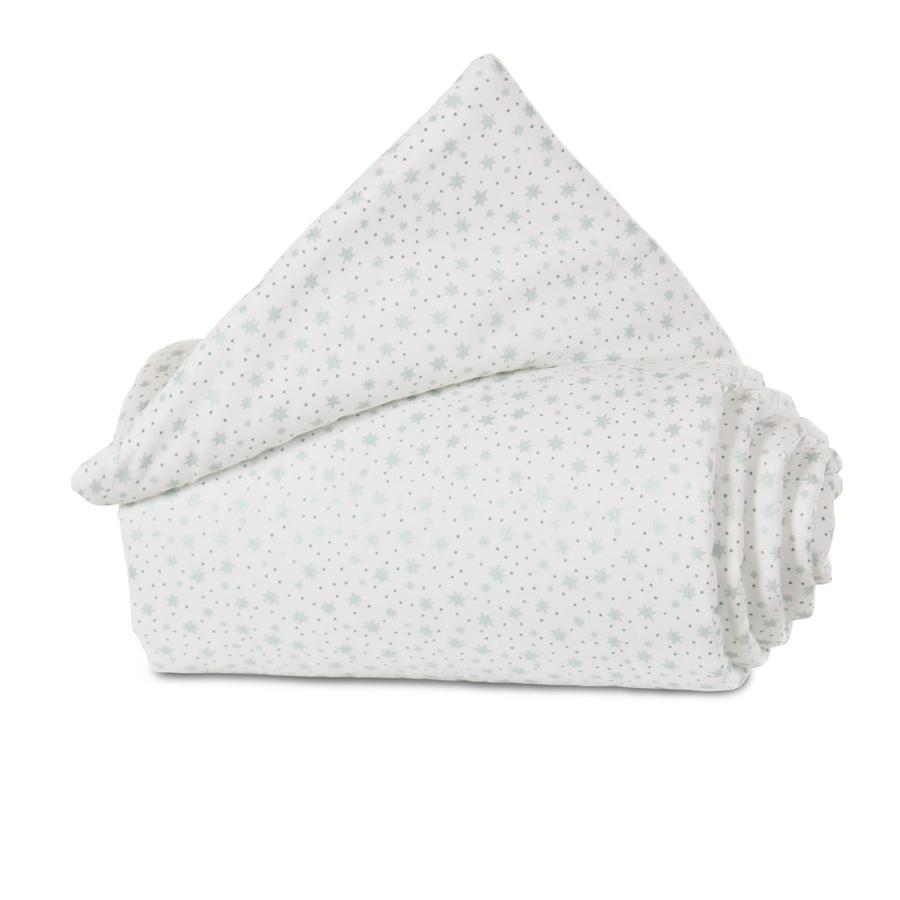 babybay Nest Organic Cotton Maxi bílé třpytivé hvězdy máty 168 x 24 cm