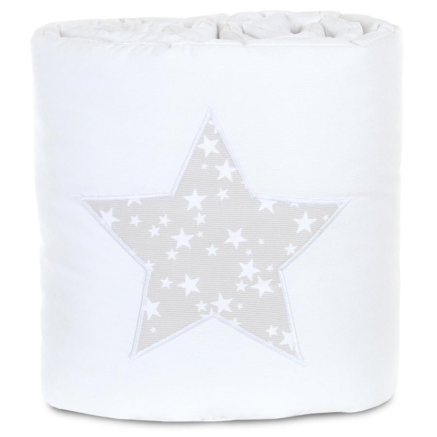 babybay Nido Piqué Boxspring XXl blanco estrella gris perla