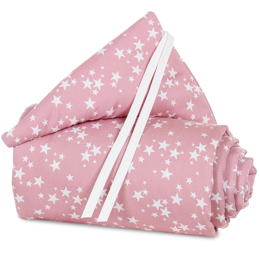 babybay Nest Piqué Boxspring XXL berry hvězda bílá