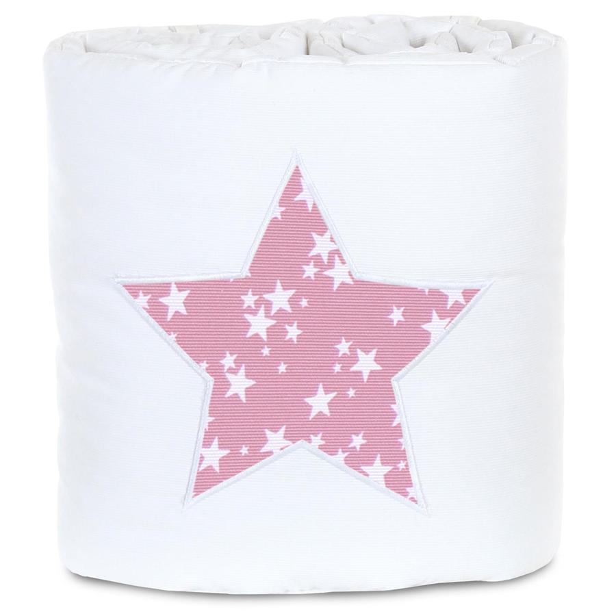 babybay Reunapehmuste Piqué Box Spring XXL -valkoinen marja
