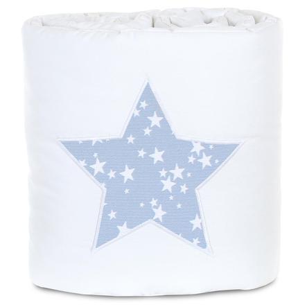 babybay Nestchen Piqué Boxspring XXL weiß Stern azurblau