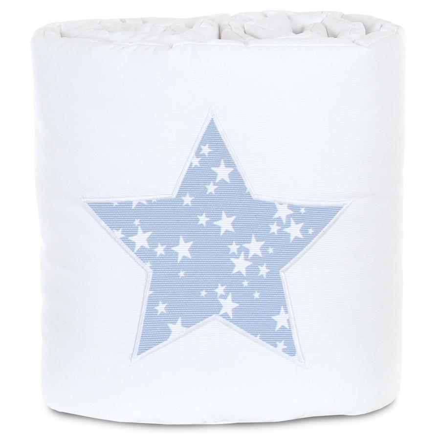 babybay Nido Piqué Box Spring XXL baya estrella blanca