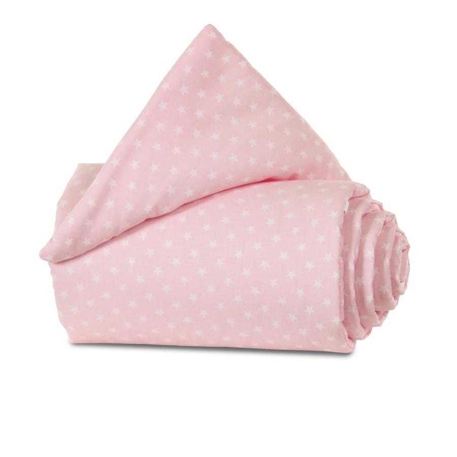babybay® Nestchen Organic Cotton Original rosa Sterne weiß 149x25 cm