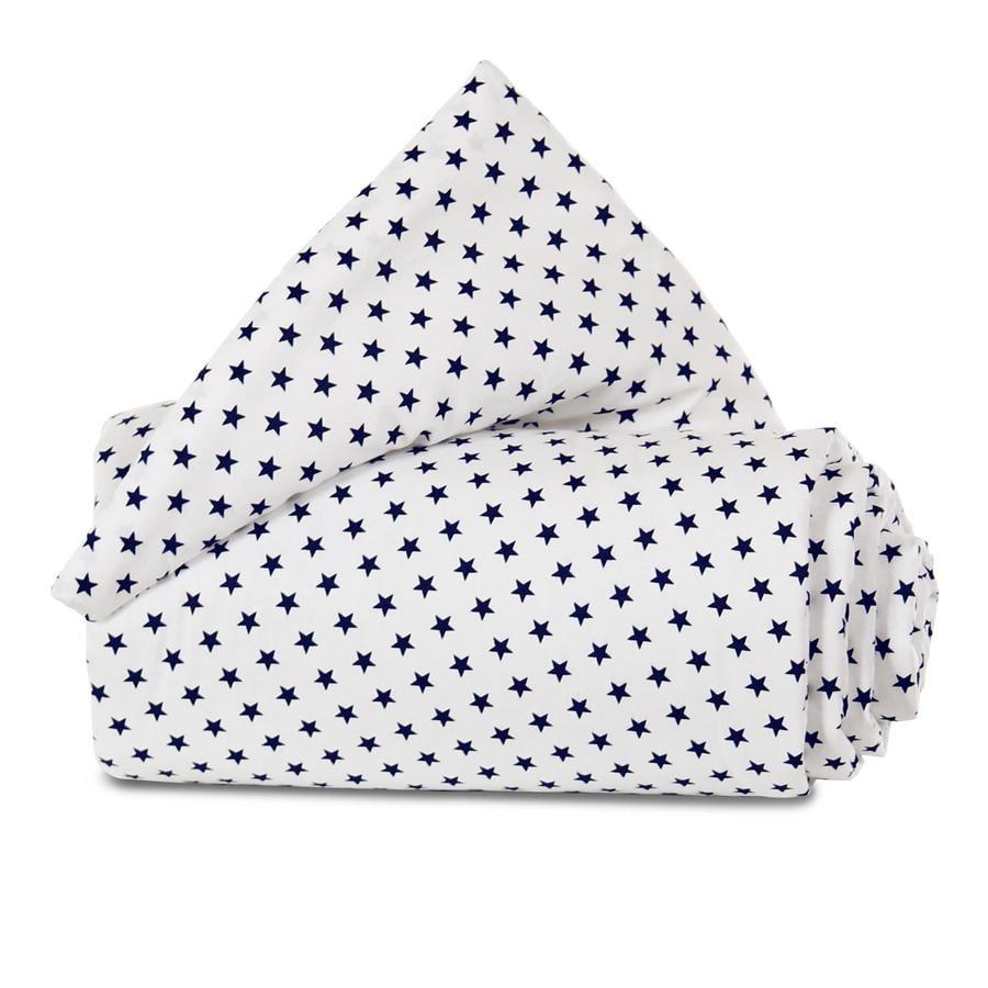 babybay Nest Organic Cotton Mini / Midi bílé hvězdy modré 157x25 cm
