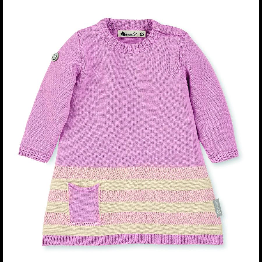 Sterntaler pletené šaty růžové