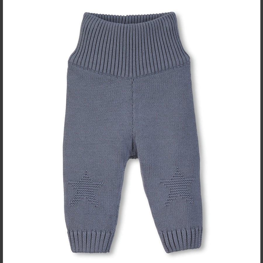 Sterntaler Pantalon tricoté Star gris-bleu