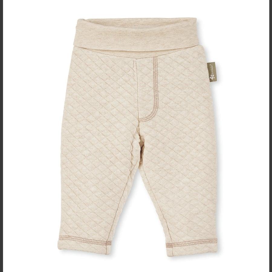 Sterntaler Gewatteerde pantalon draagt ecru melange