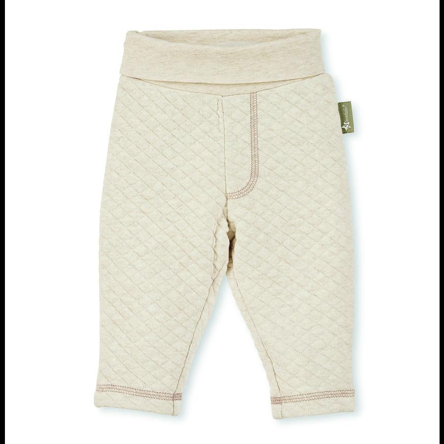 Sterntaler prošívané kalhoty bear ecru melange