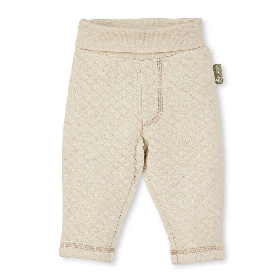 Sterntaler Vatterte bukser bærer ecru melange