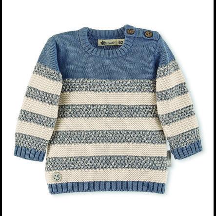 Sterntaler Pull-over enfant coton tricoté écru