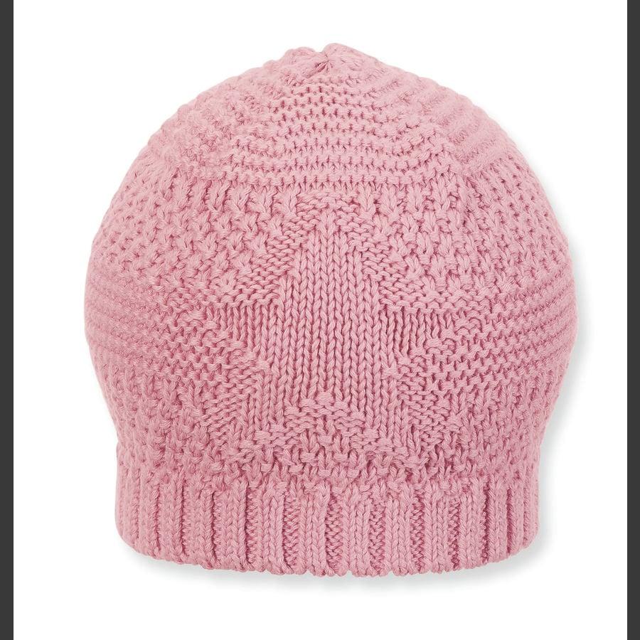 Sterntaler Girls Dzianinowy kapelusz różowy