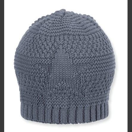 Sterntaler Bonnet tricoté gris bleu