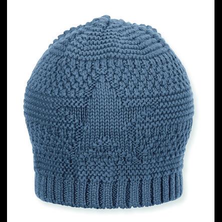 Sterntaler pletená čepice šedá modrá