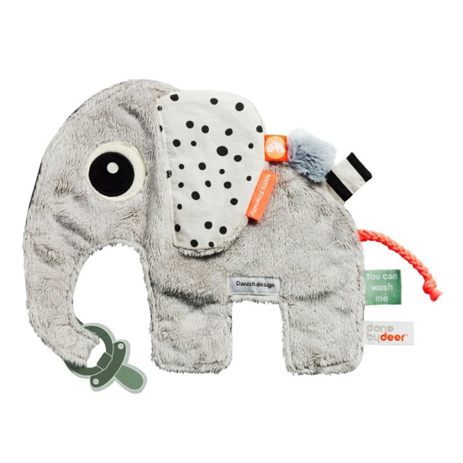Done by Deer ™ Cuddle panno Cozy Friend Elephant Elphee, grigio