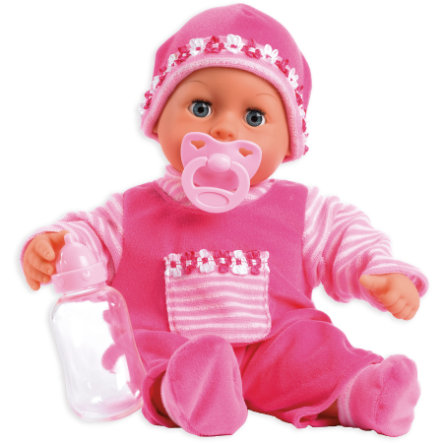 bayer Design Babypuppe First Words, pink, 38 cm