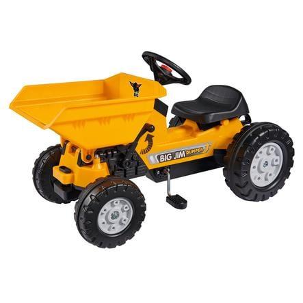 BIG Tracteur enfant à pédales Jim Dumper