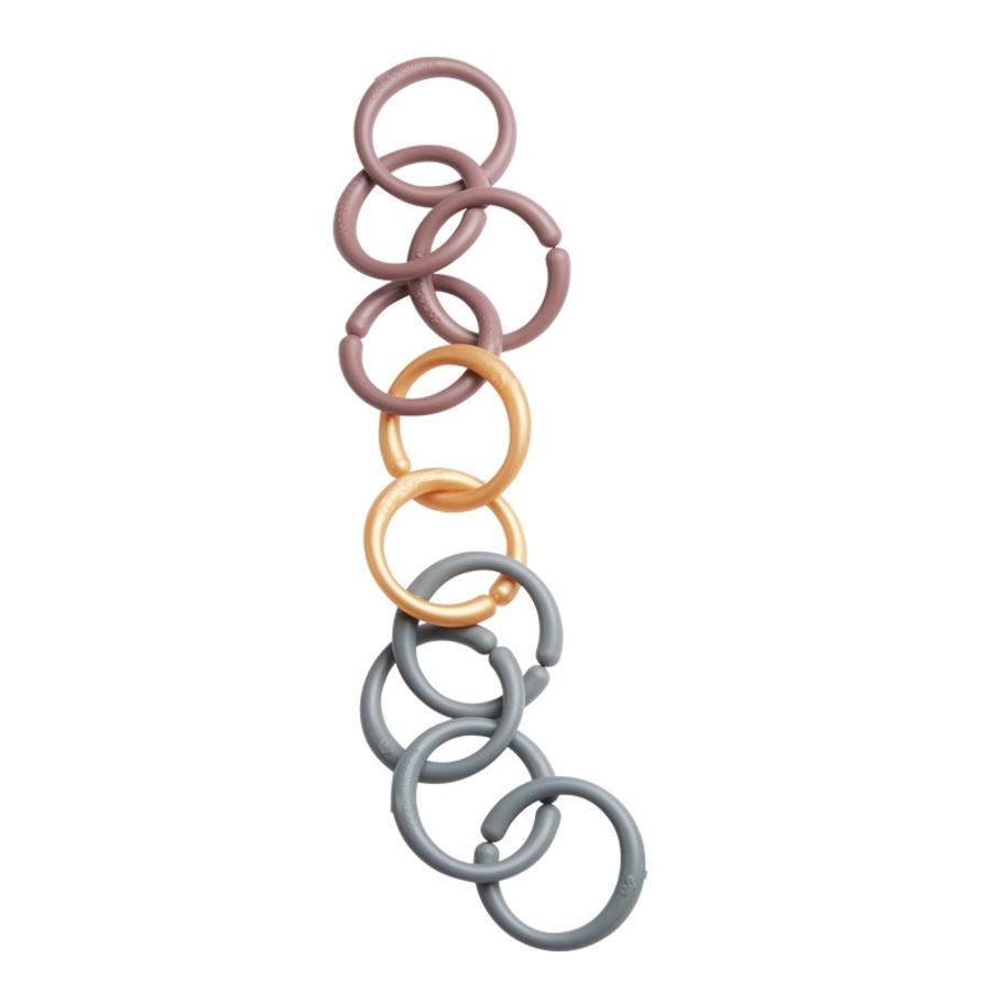 Done by Deer™ Conjunto de anillos de fijación, rosa oscuro