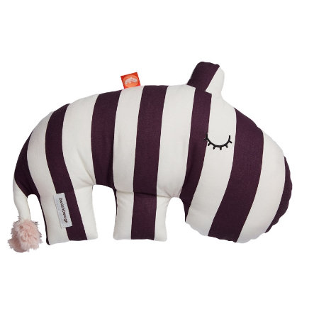 Done by Deer ™ Cuddly toy nijlpaard Ozzo, donkerroze/wit