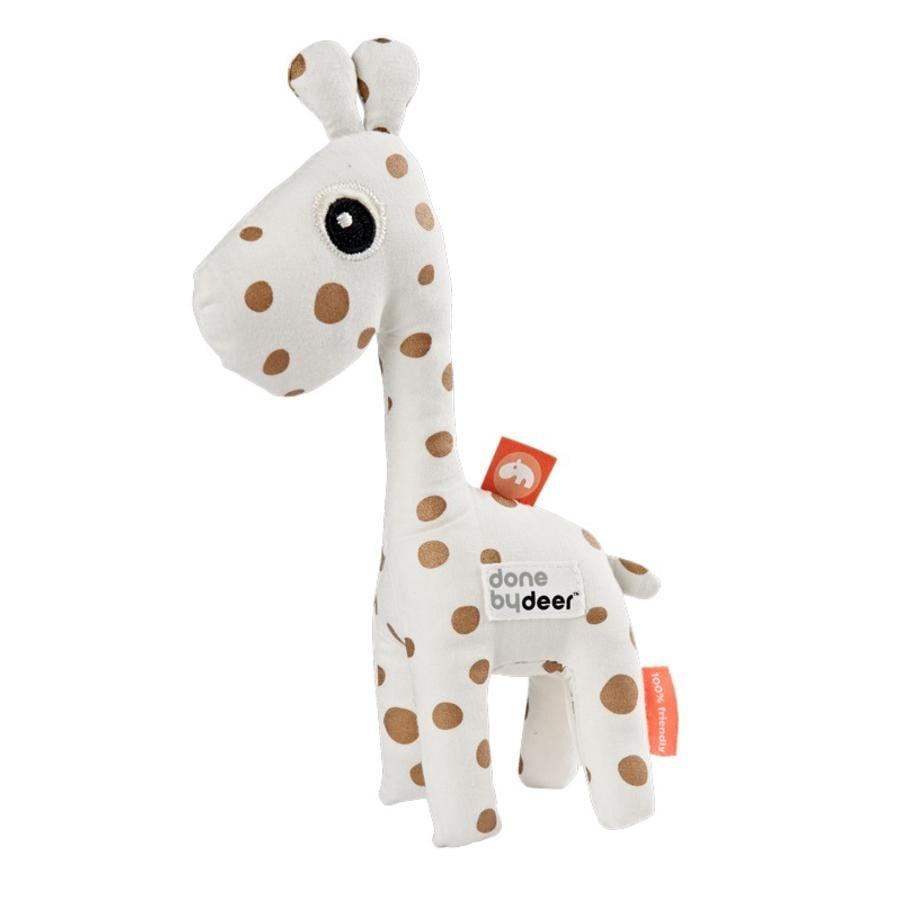 Done by Deer™ Hochet girafe Raffi blanc/doré