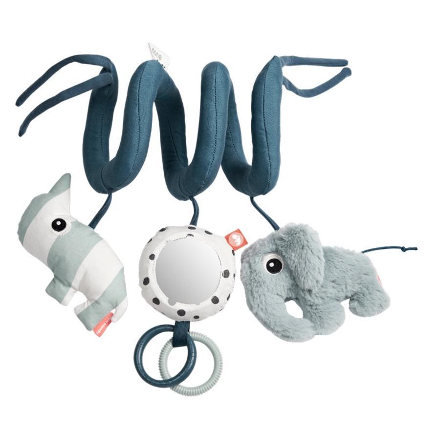 Done by Deer ™ Activiteitenspeelgoed Spiral e Elephant Elphee & Rhino Nozo, blauw