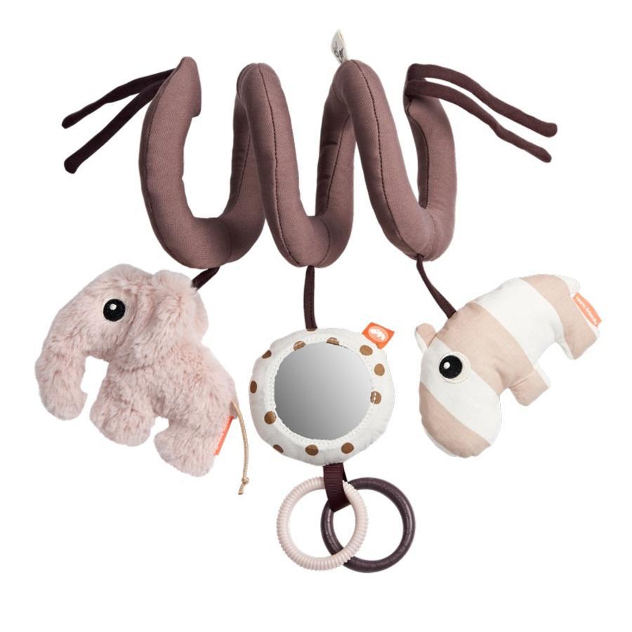 Done by Deer™ Aktivitätsspielzeug Spirale Elefant & Nilpferd, rosa