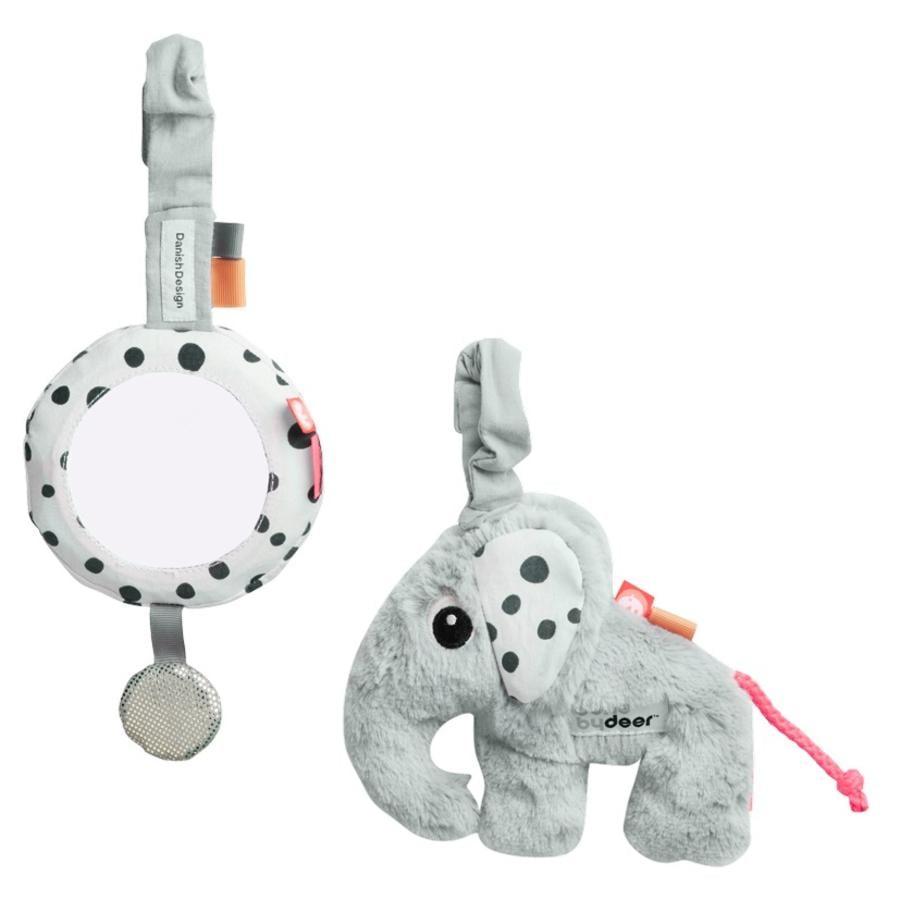 Done by Deer™ To Go Activity Set 'Spiegel & Elphee Elefant', grau