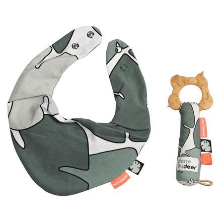 Done by Deer™ Coffret cadeau bavoir et anneau de dentition Tiny Tropics