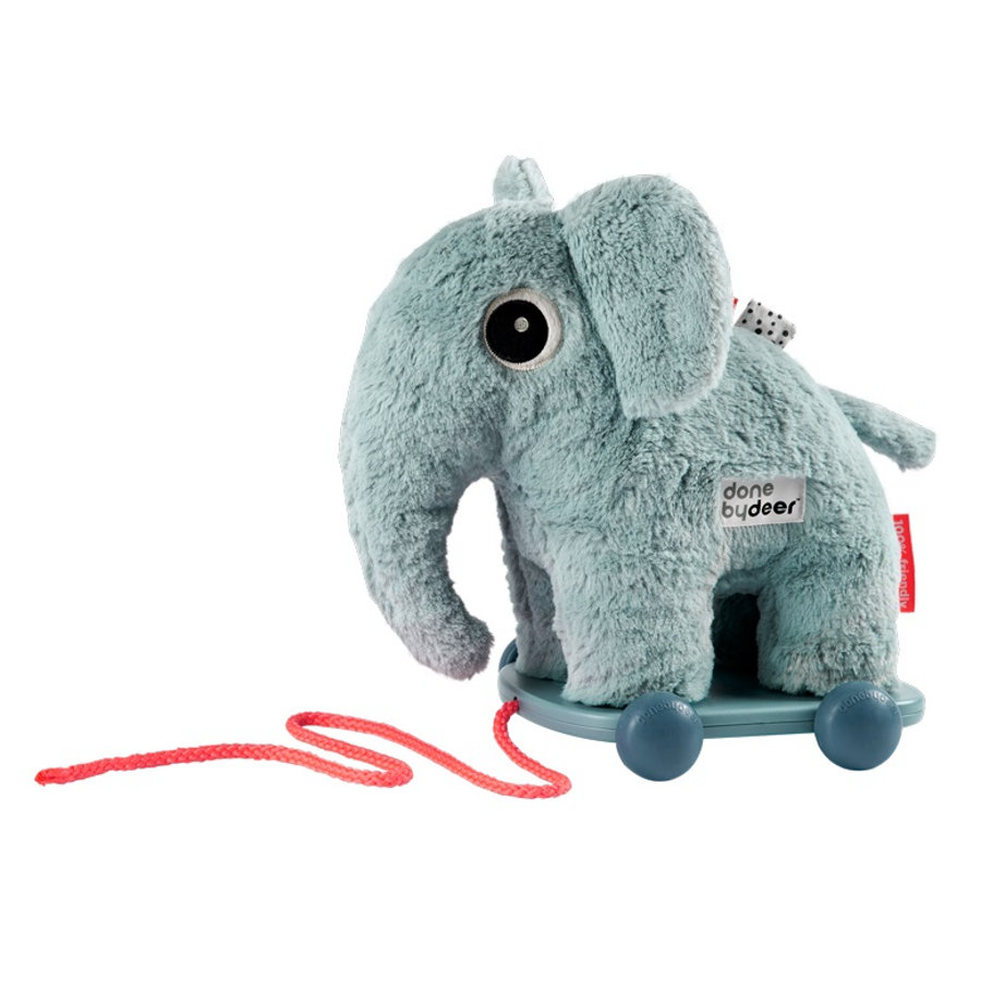 Done by Deer ™ Træk-langs dyr Elefant Elphee, blå
