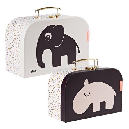 Done by Deer ™ Set valigie per bambini, rosa