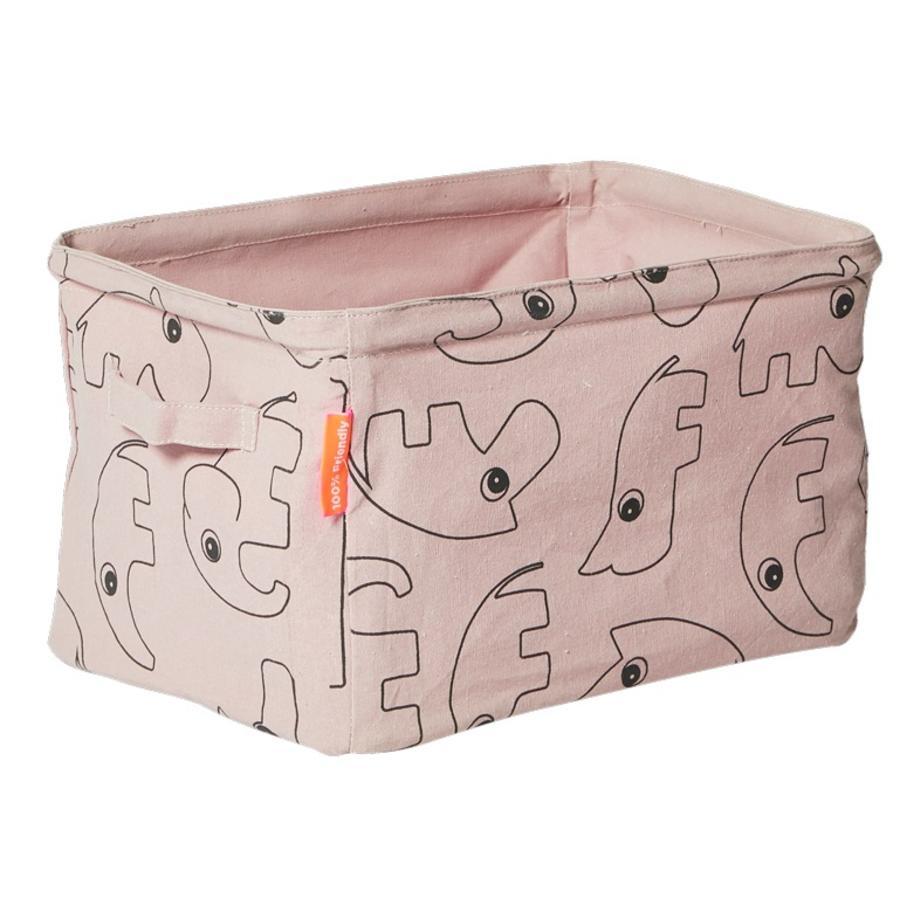 Done by Deer úložný box vyrobený z látky, růžový