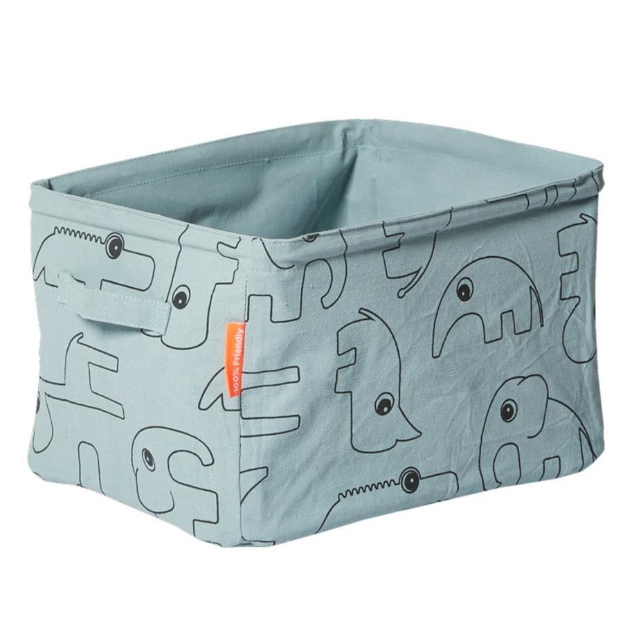 Done by Deer™ Caja de almacenamiento de tela, azul