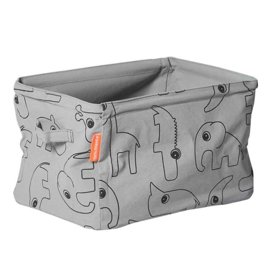 Done by Deer™ Aufbewahrungsbox aus Stoff, grau