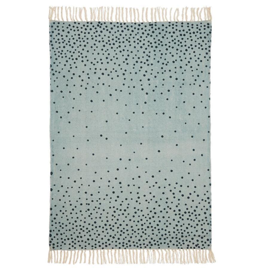 Done by Deer™ Teppich 90 x 120 cm, blau