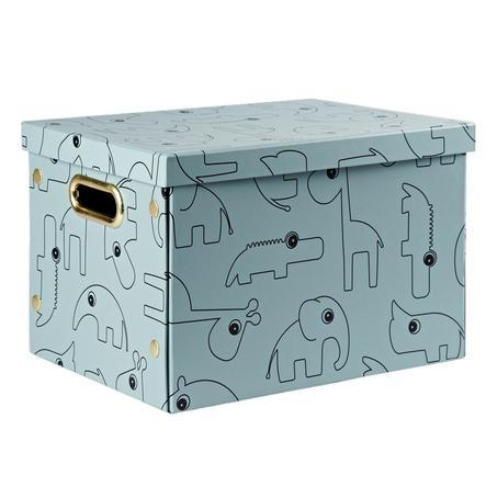Done by Deer™ Aufbewahrungsbox mit Deckel Contour, blau