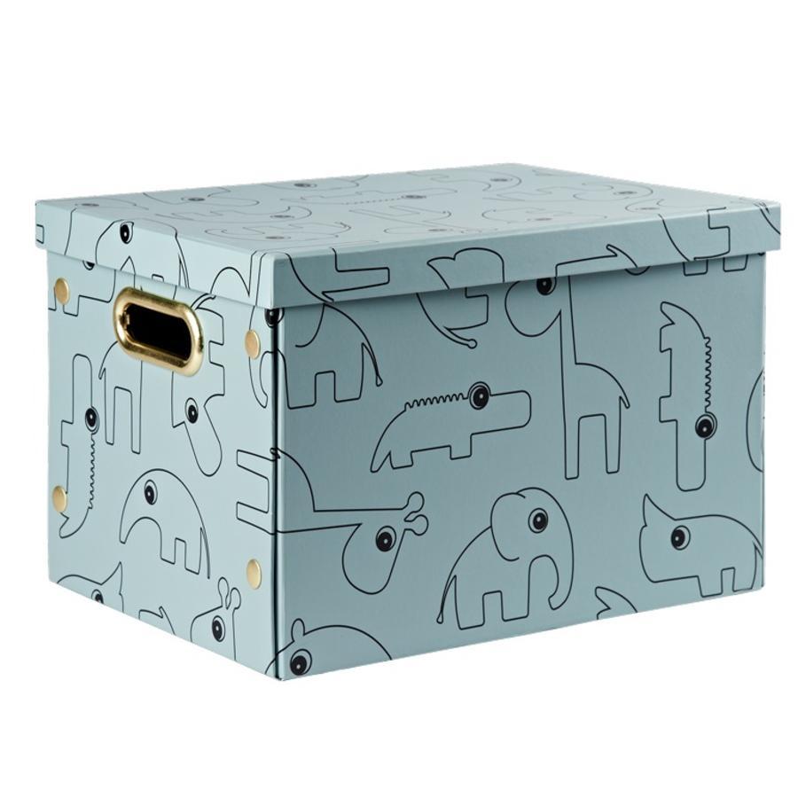 Done by Deer™ Caja de almacenamiento con tapa Contour, azul