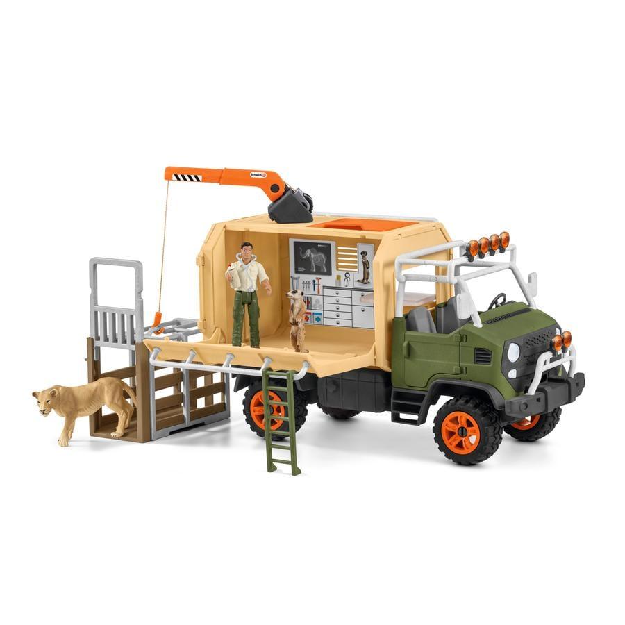 Schleich Figurine gros camion sauvetage d'animaux 42475