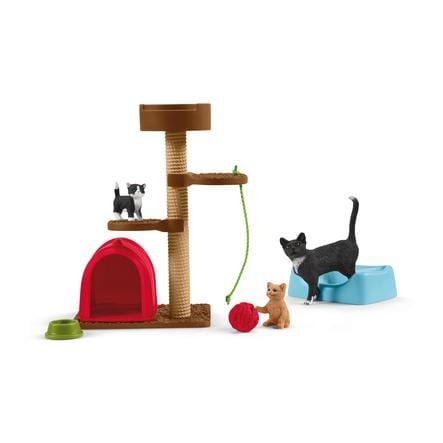 Schleich Diversión para los gatos lindos 42501