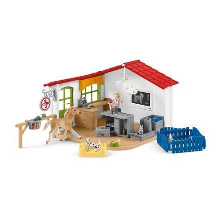 Schleich Granja veterinaria con mascotas 42502