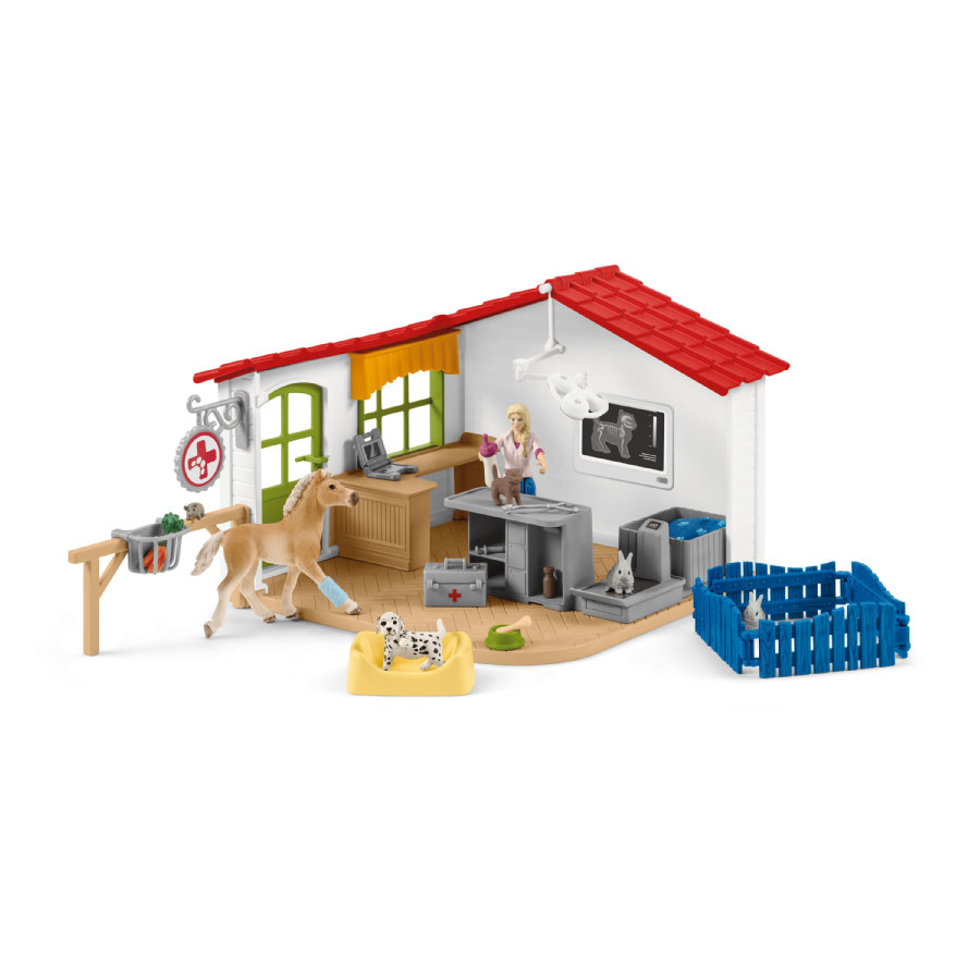 Schleich Tierarzt-Praxis mit Haustieren 42502
