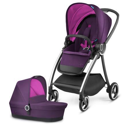 gb PLATINUM Kinderwagen Maris mit Kinderwagenaufsatz Cot Posh Pink