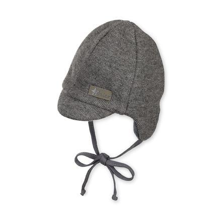 Sterntaler Chicos con gorra pico de cuerda gris hierro