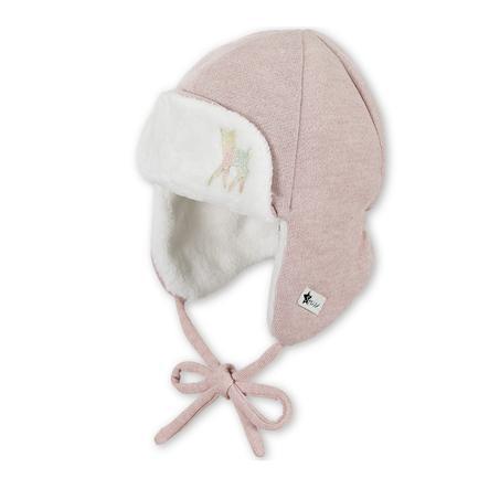 Sterntaler Girls letecká čepice pink melange