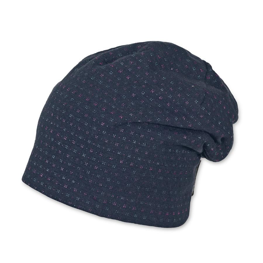 Sterntaler Girls bonnet slouch marine