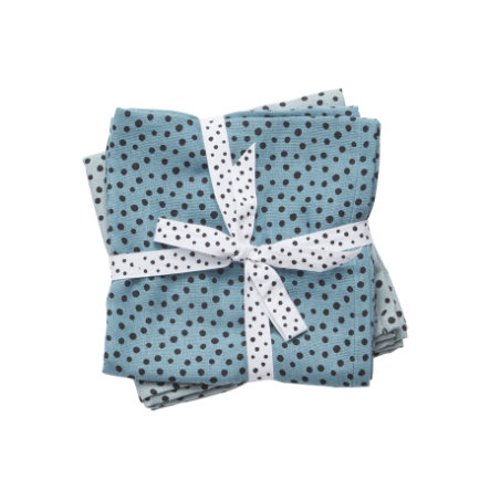 Done by Deer™ Pucktuch 2er-Pack Happy dots Blau