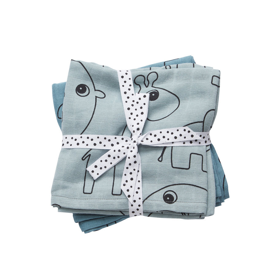 Done by Deer™  Puck Cloth 2-Pack Contour Blue