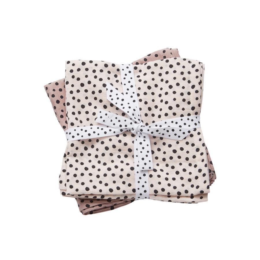 Done by Deer ™ Spit Towel 2-pack Happy dots Poeder